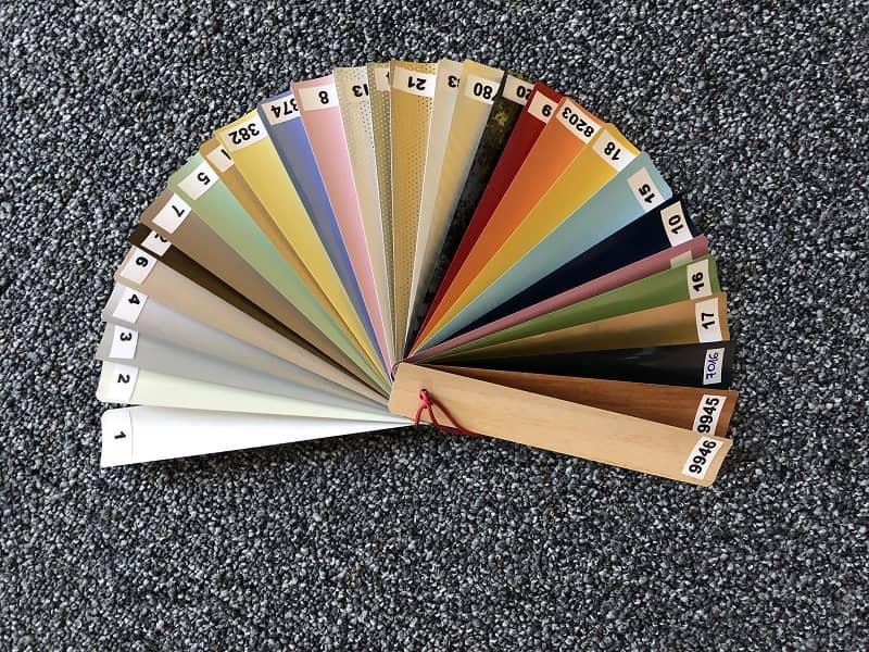 notranje žaluzije barve lamel